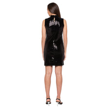 Load image into Gallery viewer, Black Embellished Dress-3