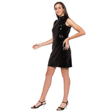Load image into Gallery viewer, Black Embellished Dress-2
