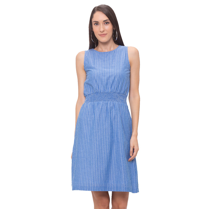 Globus Blue Striped Dress-1