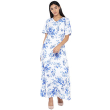 Load image into Gallery viewer, White Printed Maxi Dress-1
