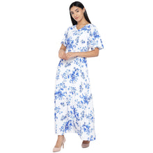 Load image into Gallery viewer, White Printed Maxi Dress-2