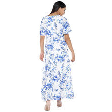 Load image into Gallery viewer, White Printed Maxi Dress-3
