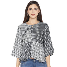 Load image into Gallery viewer, Black Striped Top-1