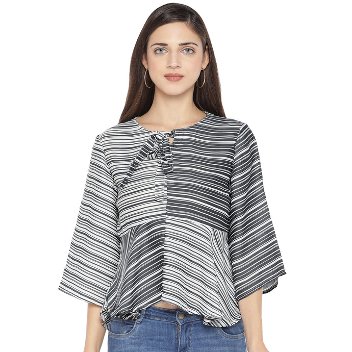 Black Striped Top-1