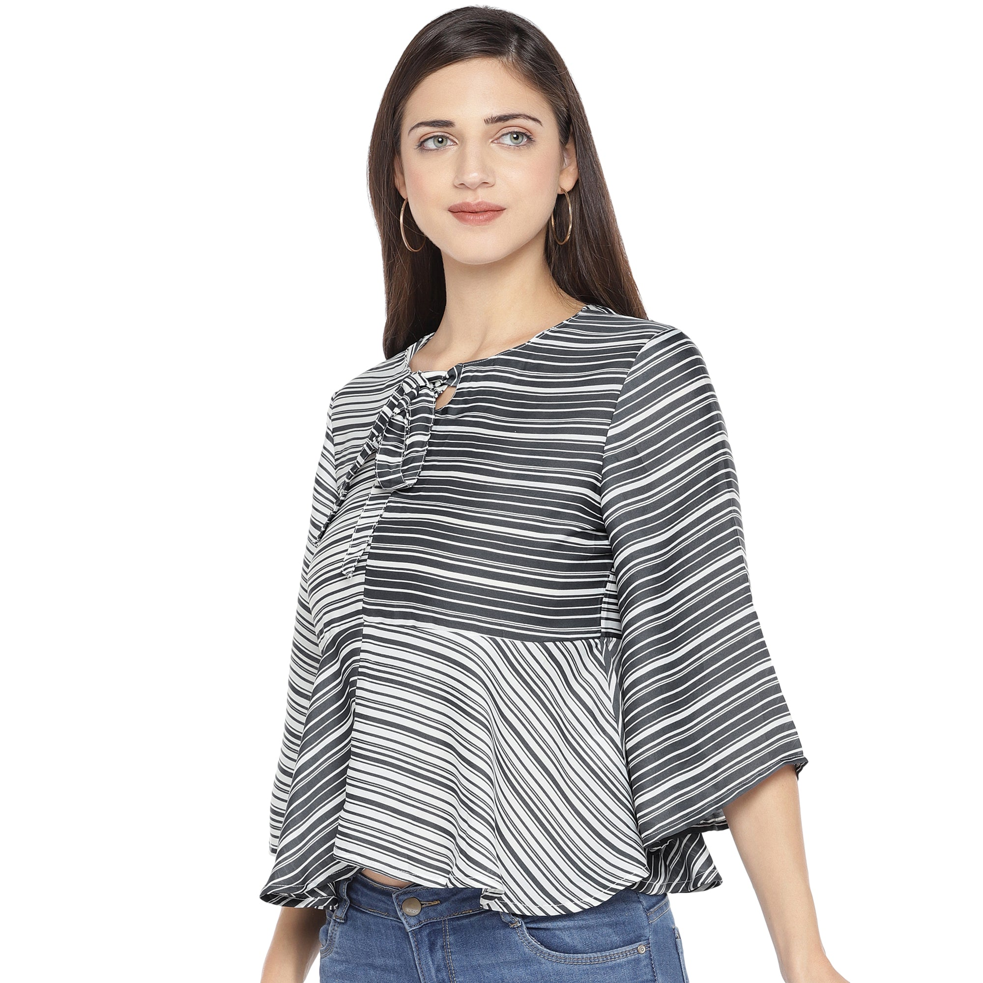 Black Striped Top-2