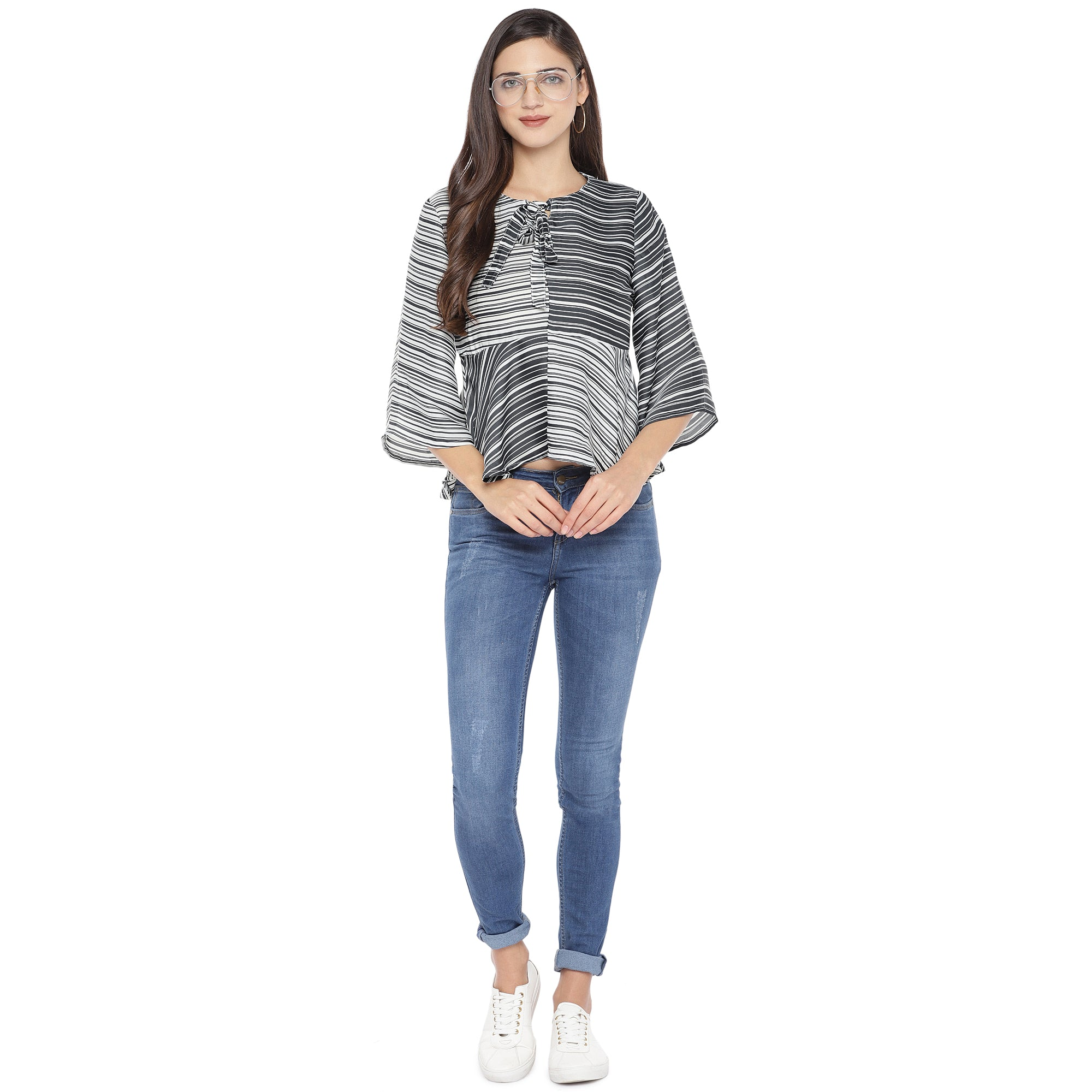 Black Striped Top-4