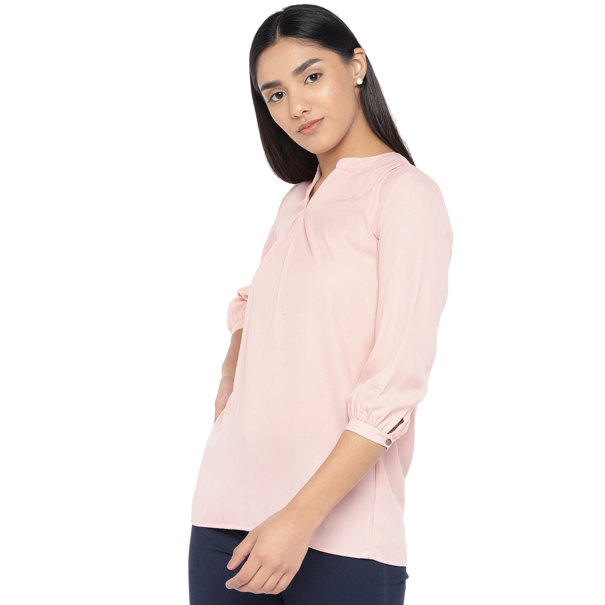 Pink Solid Top-2