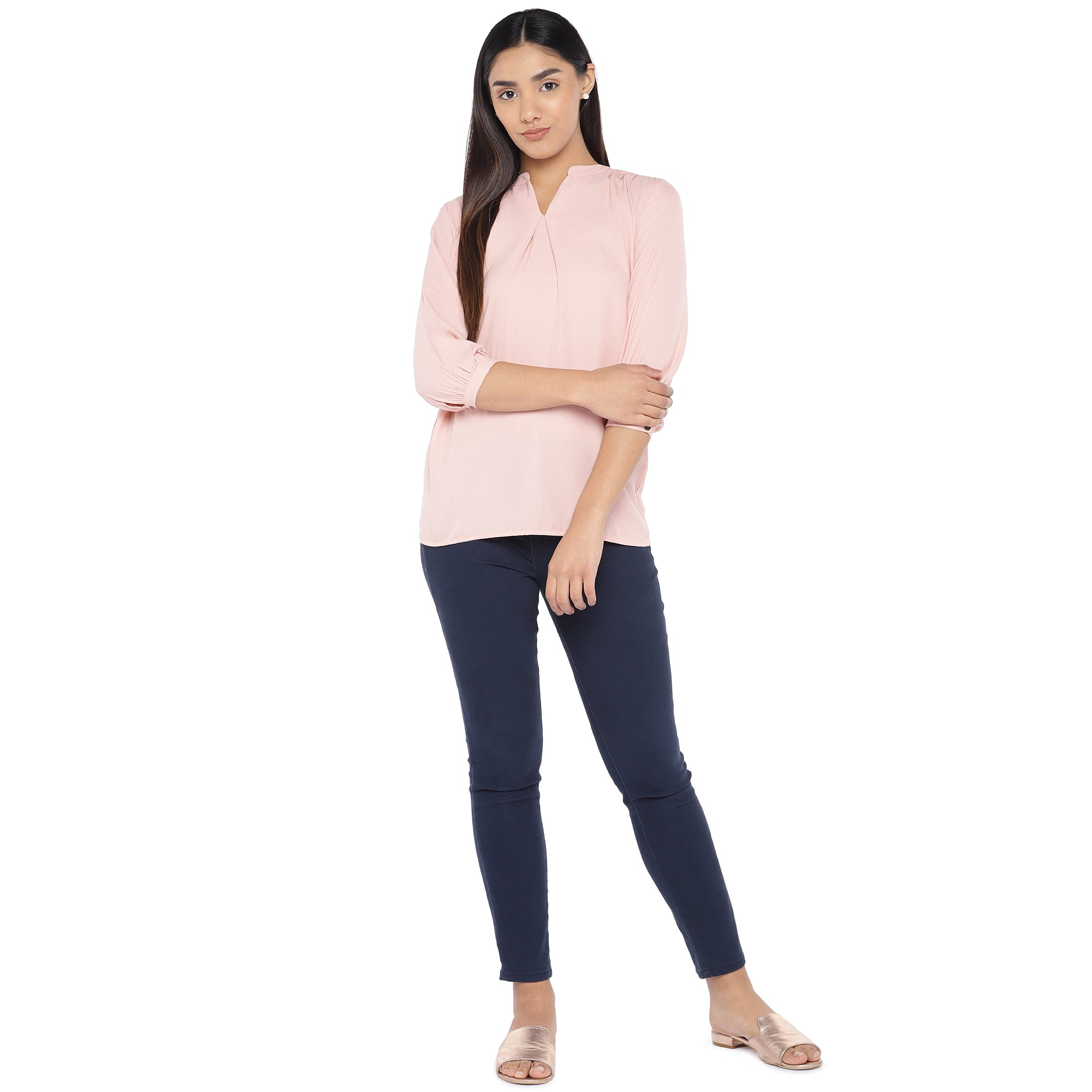 Pink Solid Top-4