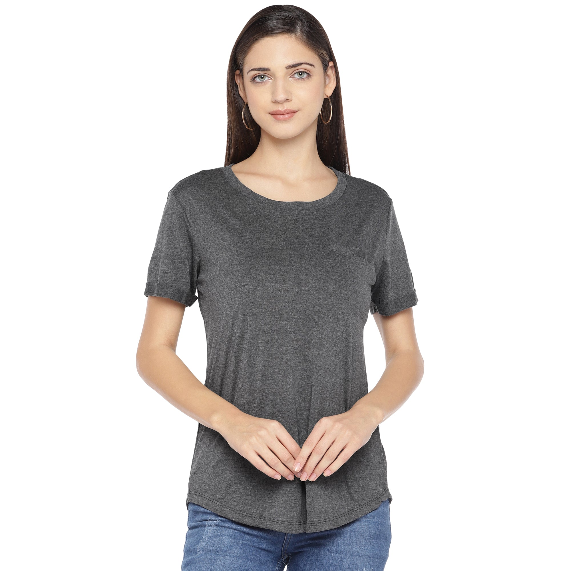 Charcoal Solid Top-1