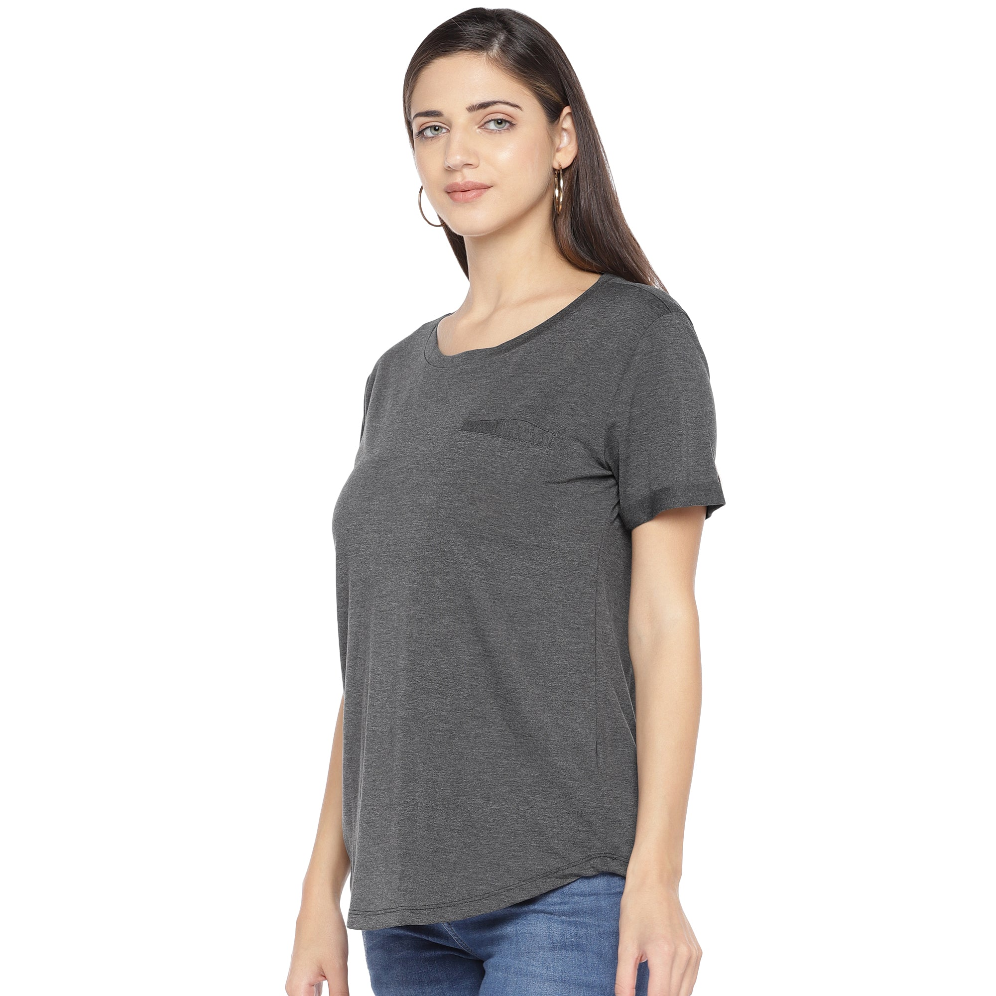 Charcoal Solid Top-2