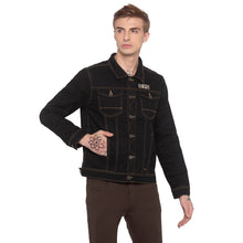 Load image into Gallery viewer, Black Denim Jacket-1
