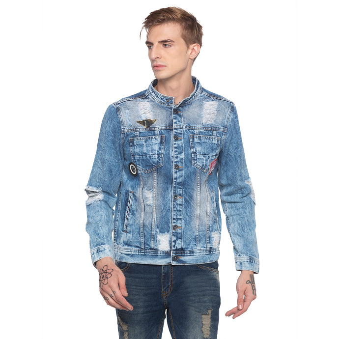 Distressed Denim Jacket-1