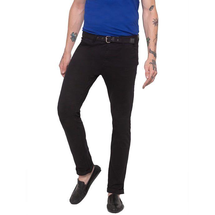 Solid Black Chinos-1