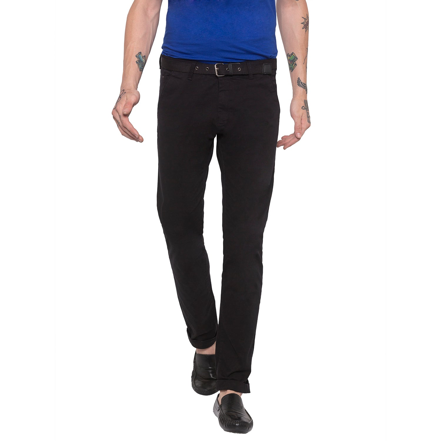 Solid Black Chinos-3