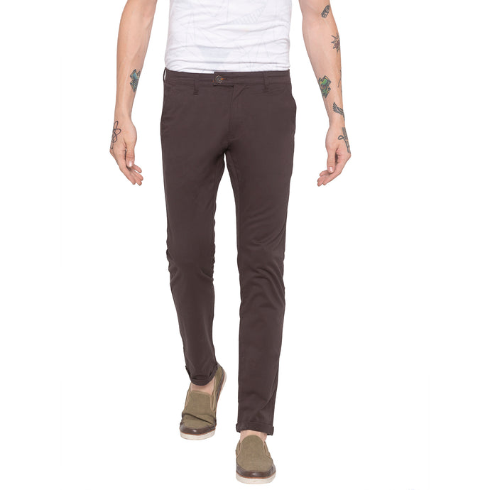 Solid Brown Chinos-1