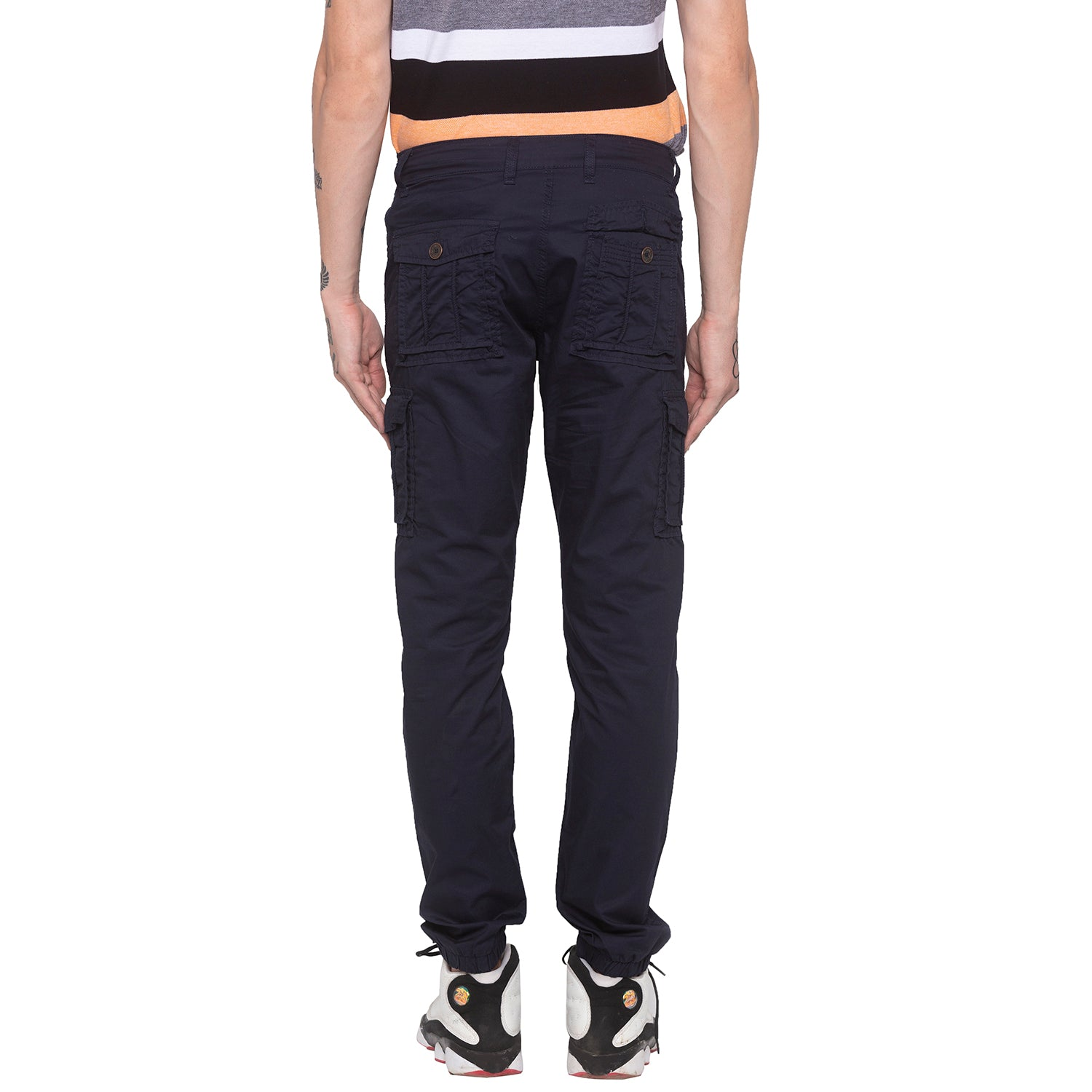 Navy Blue Cargo Pants-3