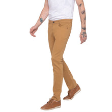 Load image into Gallery viewer, Solid Slim Fit Beige Chinos-2