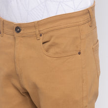 Load image into Gallery viewer, Solid Slim Fit Beige Chinos-5