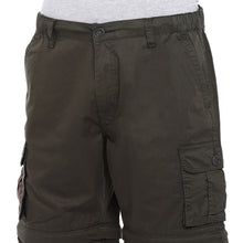 Load image into Gallery viewer, Olive Slim Fit Cargo Shorts-5