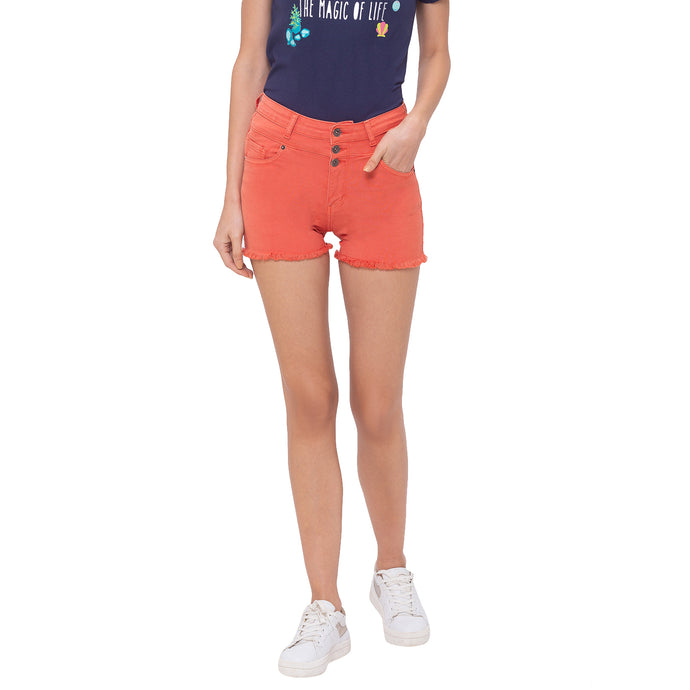 Globus Peach Solid Shorts-1