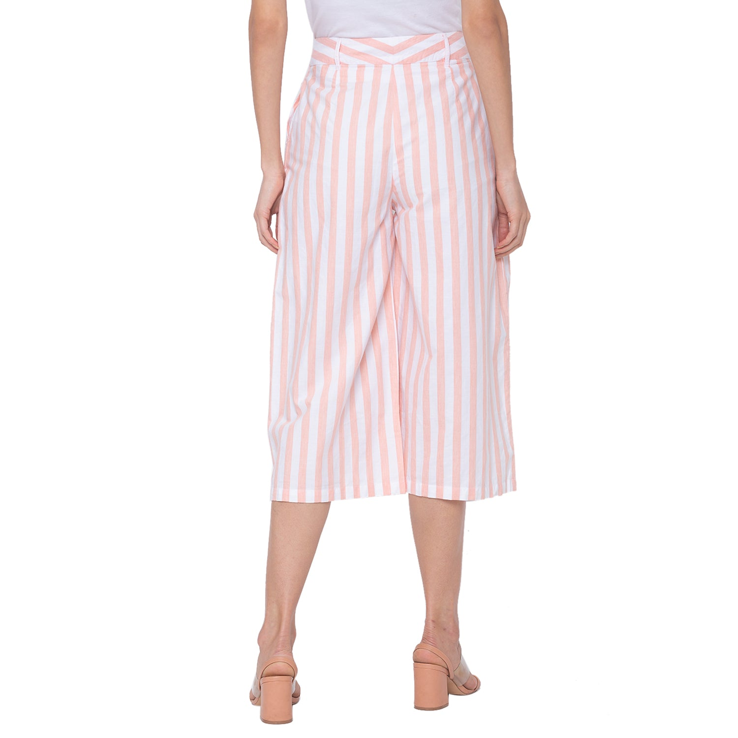 Globus White Striped Trousers-3