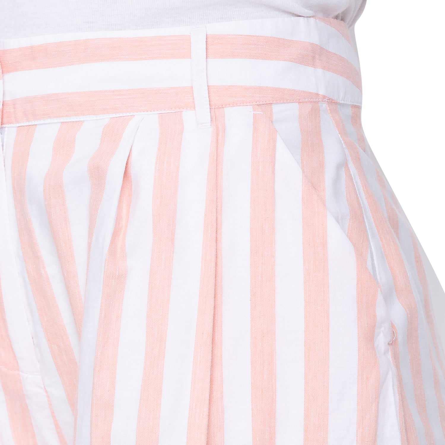 Globus White Striped Trousers-5