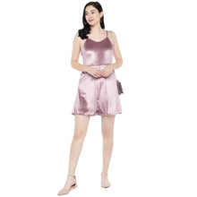 Load image into Gallery viewer, Pink Solid Playsuit-4