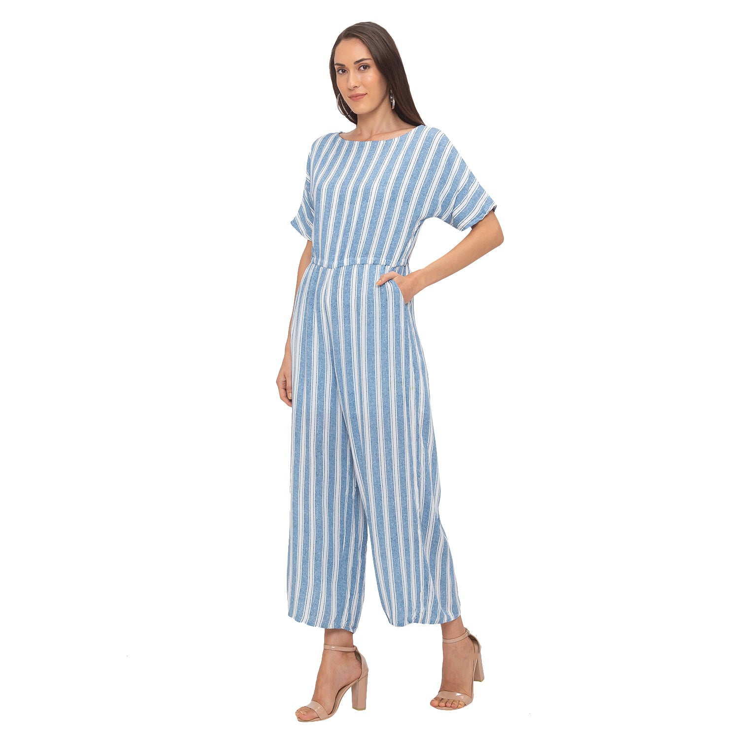 Globus Blue Striped Jumpsuit-4
