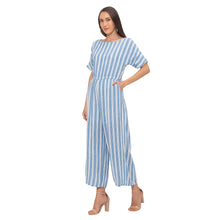 Load image into Gallery viewer, Globus Blue Striped Jumpsuit-4