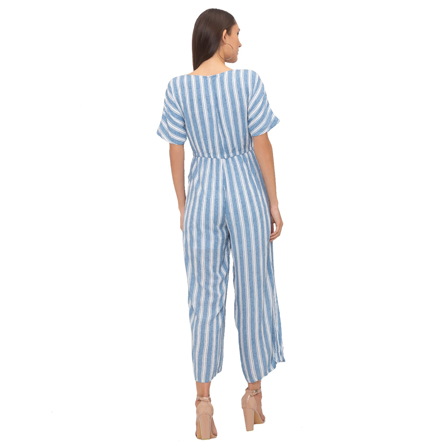 Globus Blue Striped Jumpsuit-3