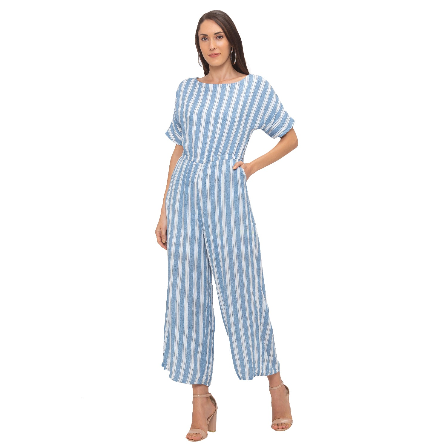 Globus Blue Striped Jumpsuit-2