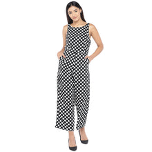 Load image into Gallery viewer, Black & Off-White Printed Basic Jumpsuit-1