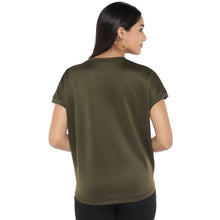Load image into Gallery viewer, Olive Green Colourblocked Top-3