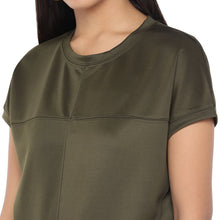 Load image into Gallery viewer, Olive Green Colourblocked Top-5