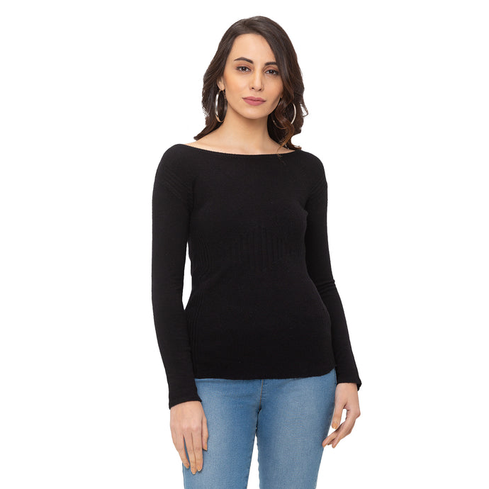 Globus Black Solid Top-1