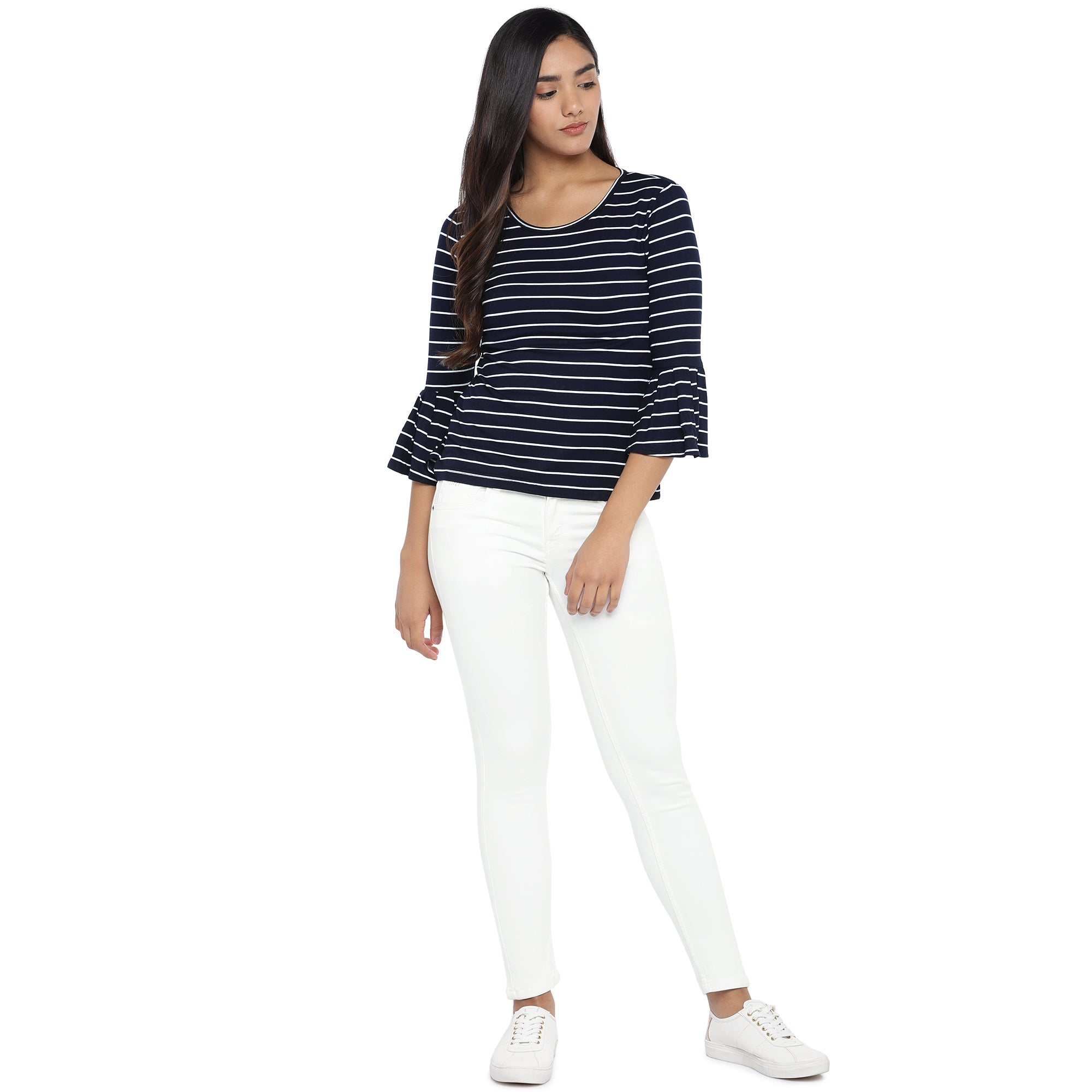 Navy Blue Striped Top-4