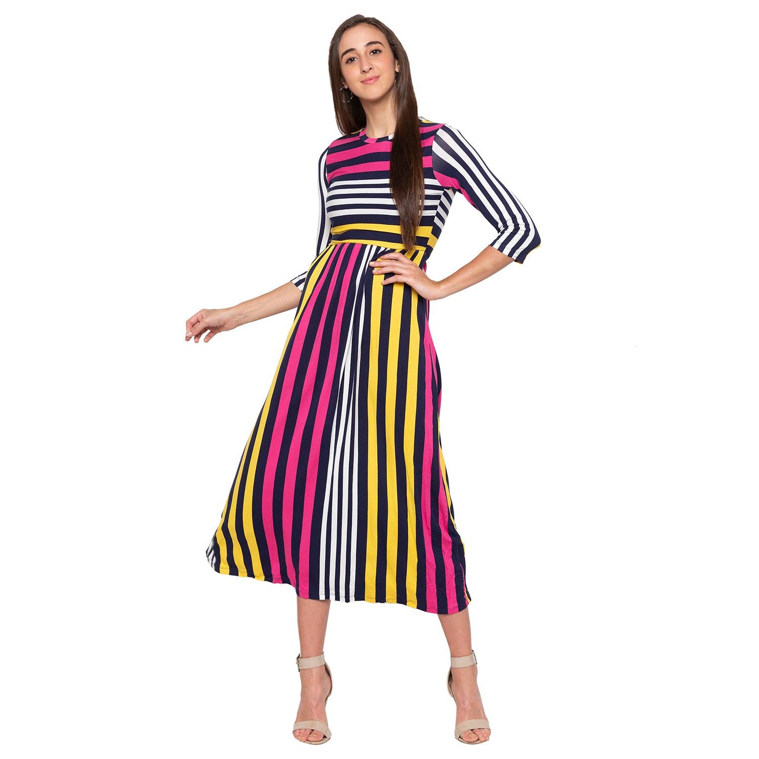 Multi Striped Dress-4
