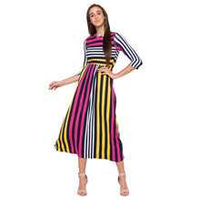 Load image into Gallery viewer, Multi Striped Dress-4