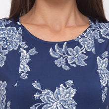 Load image into Gallery viewer, Globus Navy Blue Printed Top-5