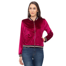 Load image into Gallery viewer, Globus Maroon Solid Jacket-1