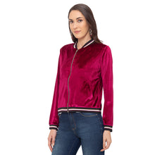 Load image into Gallery viewer, Globus Maroon Solid Jacket-2