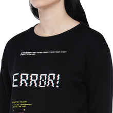 Load image into Gallery viewer, Black Printed Sweatshirt-5