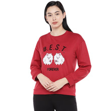 Load image into Gallery viewer, Red Printed Sweatshirt-1
