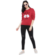 Load image into Gallery viewer, Red Printed Sweatshirt-4
