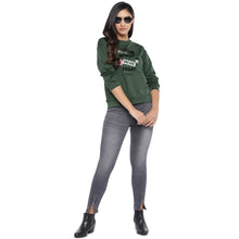 Load image into Gallery viewer, Olive Green & Black Printed Sweatshirt-4