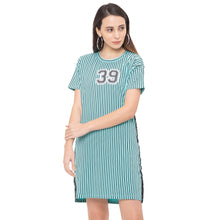 Load image into Gallery viewer, Globus Blue Striped Dress-1