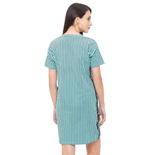 Load image into Gallery viewer, Globus Blue Striped Dress-3