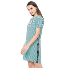 Load image into Gallery viewer, Globus Blue Striped Dress-2