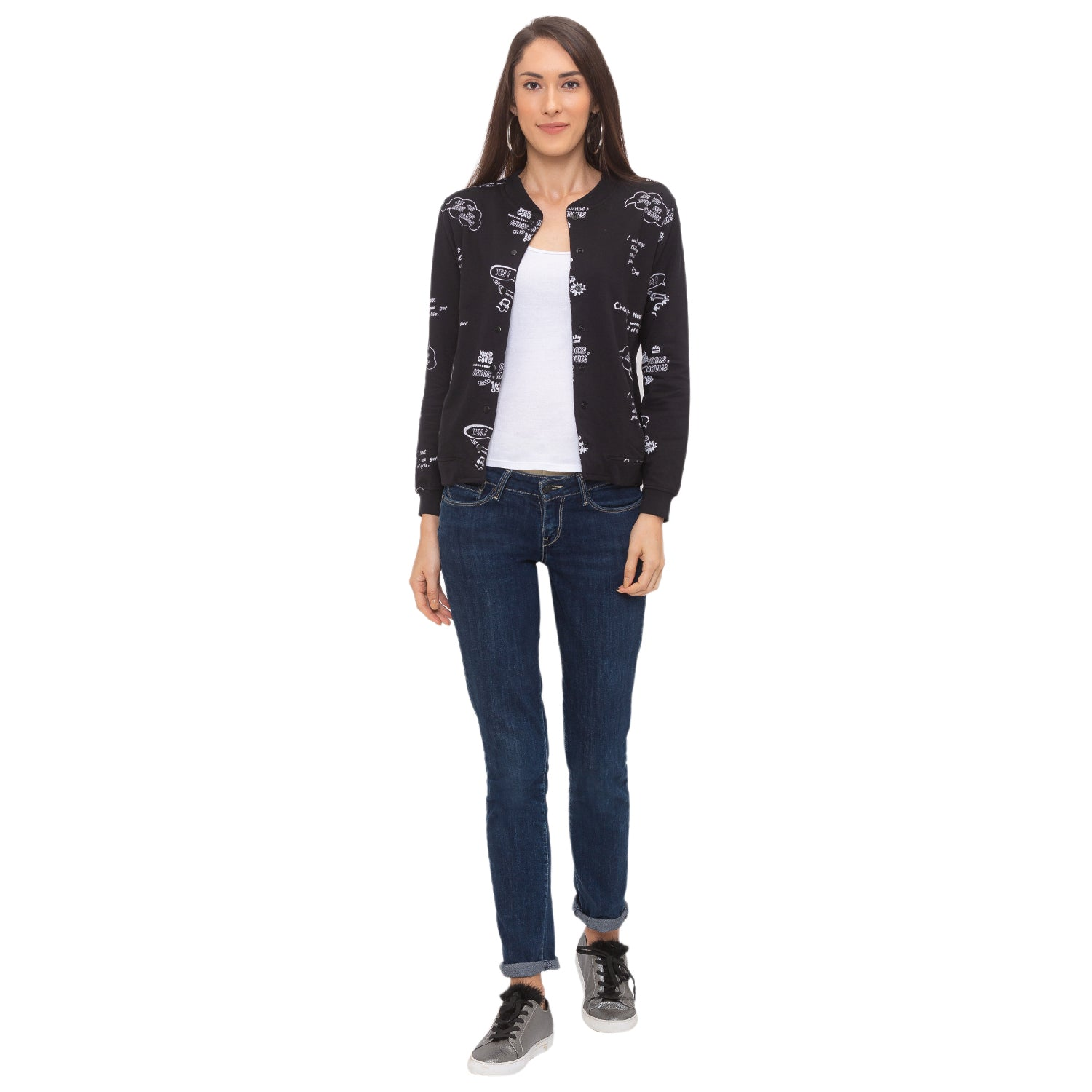Globus Black Printed Jacket-6
