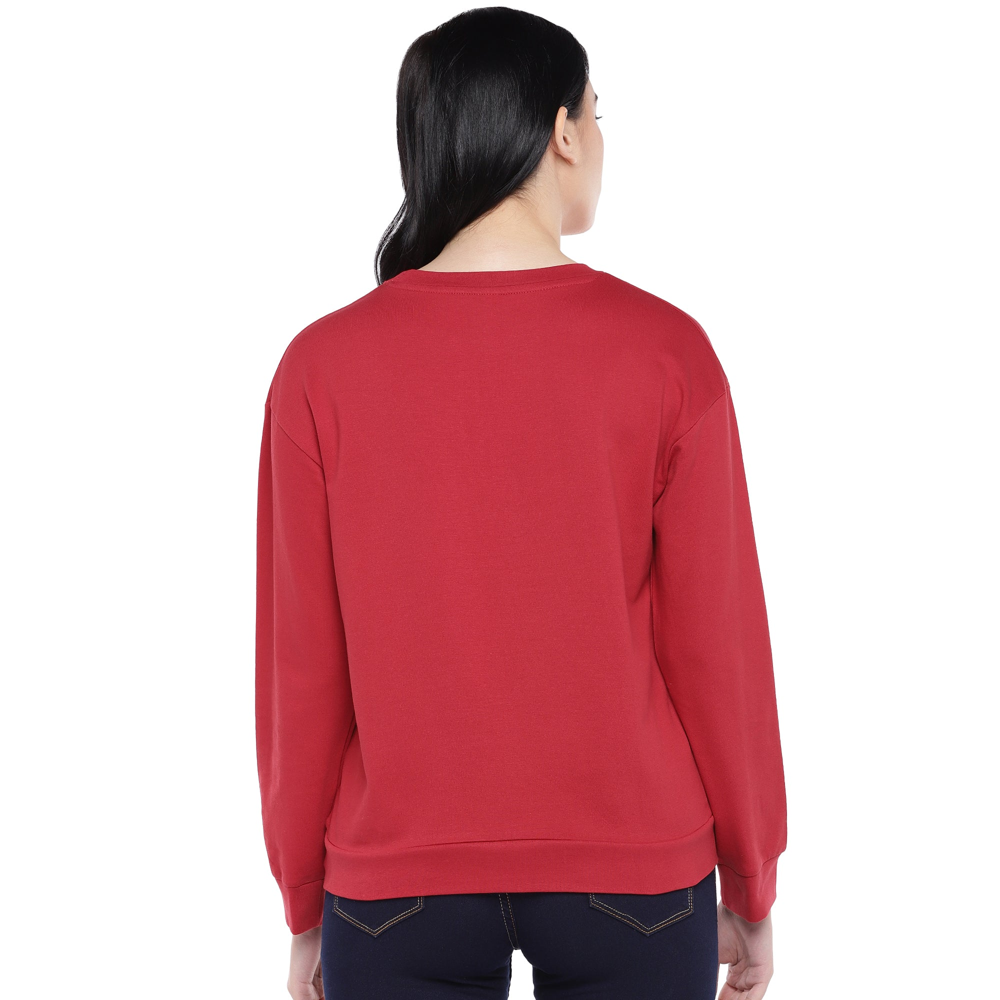 Red Printed Sweatshirt-3